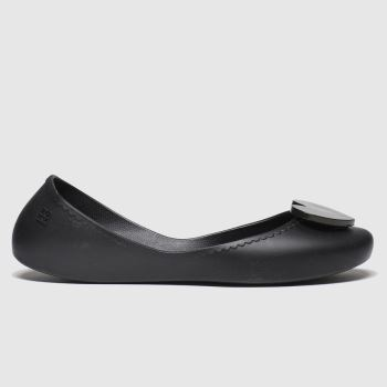 Zaxy Black Start Love Vegan Womens Flats