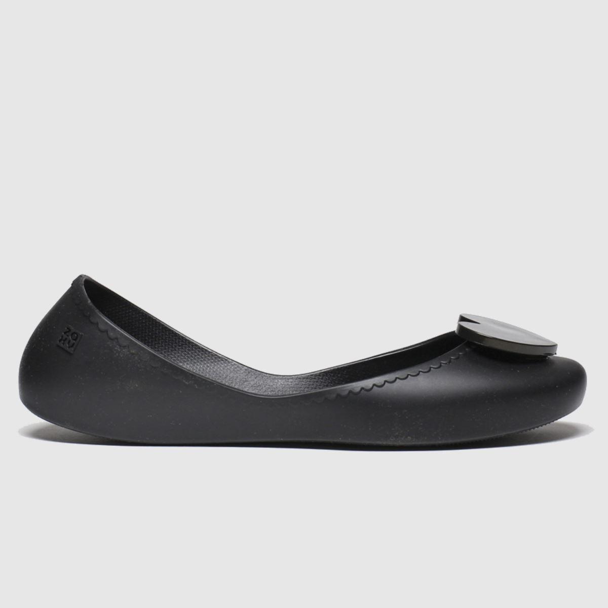 Zaxy Black Start Love Vegan Flat Shoes