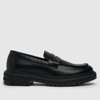schuh Black Ryder Chunky Loafer Womens Flats