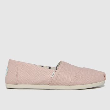 TOMS Pale Pink Alpargata 3.0 Vegan Womens Flats