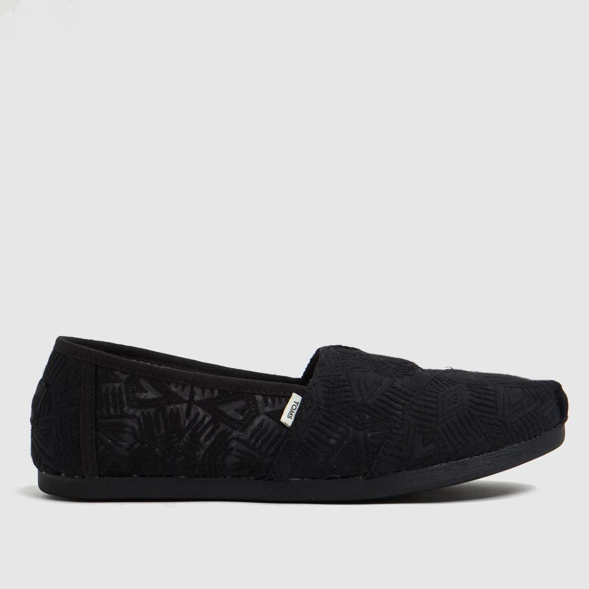 TOMS Black Alpargata 3.0 Vegan Flat Shoes