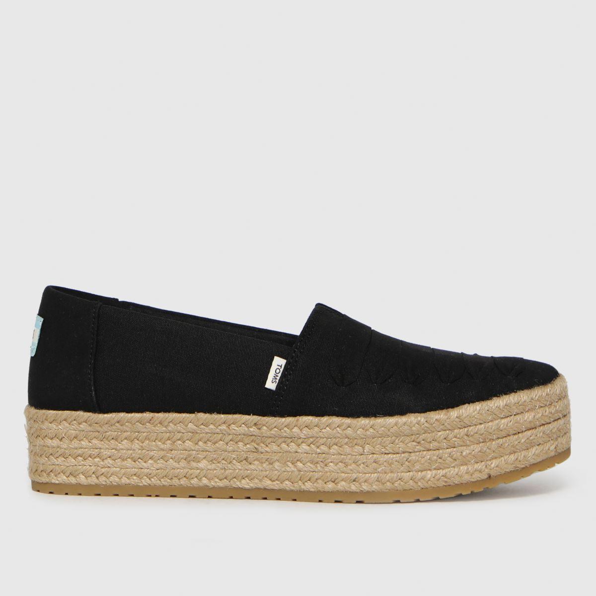 TOMS Black Valencia Vegan Flat Shoes
