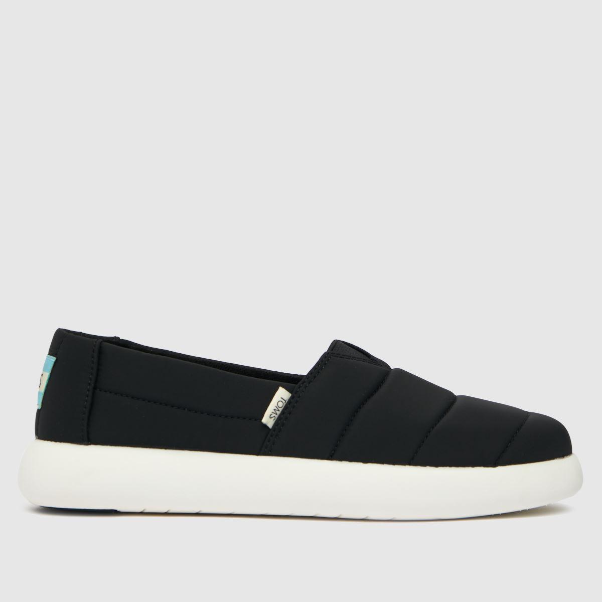 TOMS Black Alpargata Mallow Vegan Flat Shoes