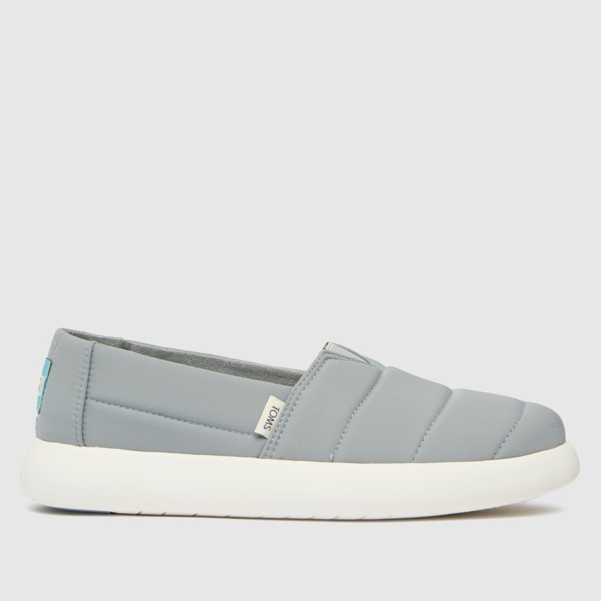 TOMS Grey Alpargata Mallow Vegan Flat Shoes
