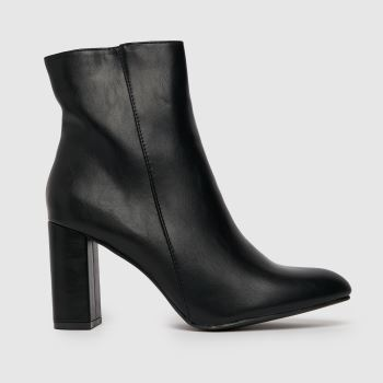 schuh Black Alivia Heeled Ankle Womens Boots