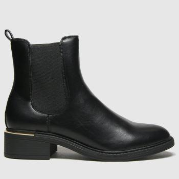 schuh Black Carol Pu Chelsea Womens Boots