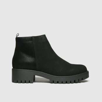 schuh Black Ava Cleated Sole Womens Boots