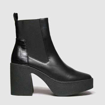 schuh Black Aiden Platform Chelsea Womens Boots