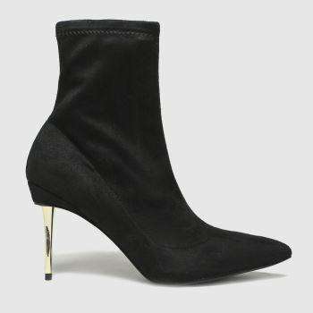 schuh Black Benny Metal Heel Sock Womens Boots