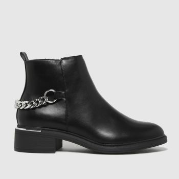 schuh Black Abbey Chunky Chain Womens Boots