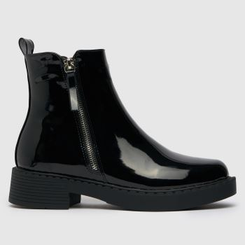 schuh Black Amos Chunky Side Zip Womens Boots