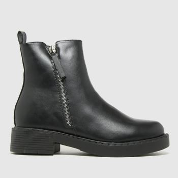 schuh Black Amos Chunky Side Zip Boots
