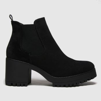 schuh Black Alicia Ankle Womens Boots#