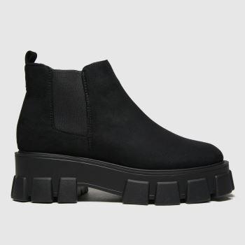 schuh Black Annie Ankle Womens Boots#