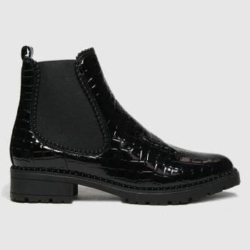 schuh Black Aiko Croc Chelsea Womens Boots