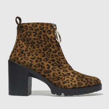 Schuh Tan & Black  Dilemma Womens Boots