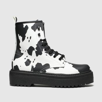 Schuh Black & White Big Deal Womens Boots