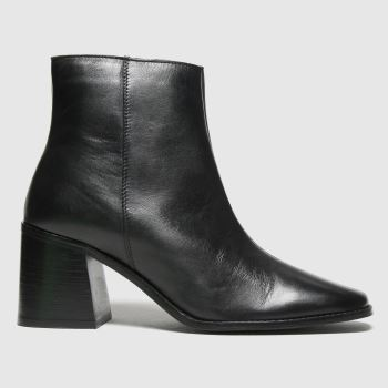 schuh Black Beatrice Leather Square Toe Womens Boots