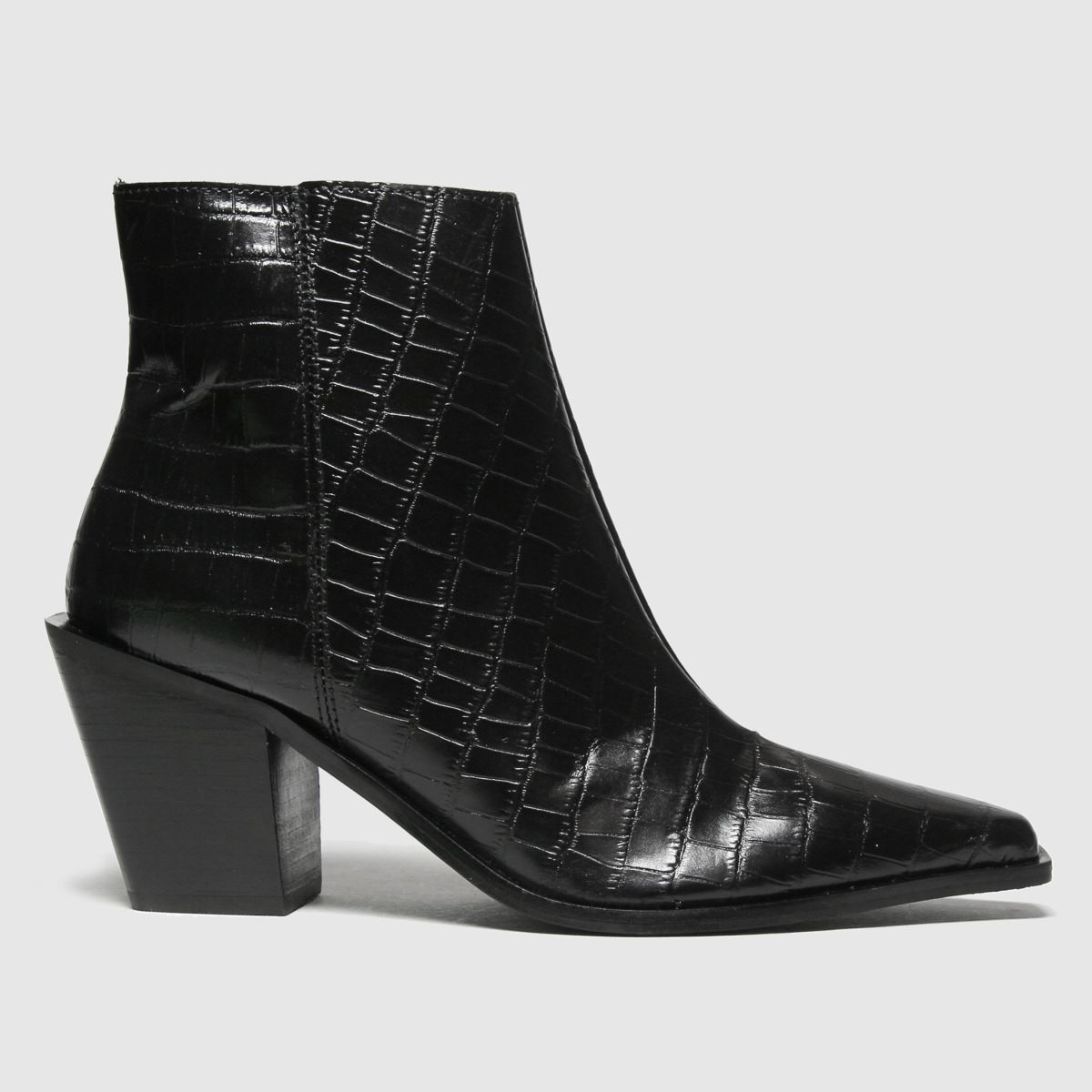 Schuh Black Barney Leather Point Boots
