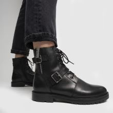 schuh Aurora Leather Buckle Lace Up 1