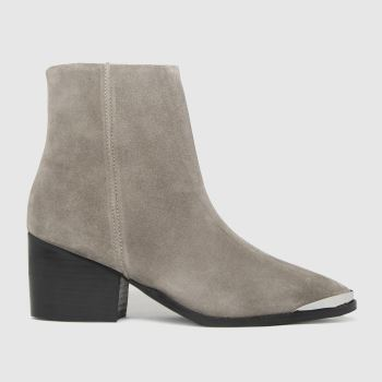 schuh Beige Brooklyn Suede Metal Toe Womens Boots