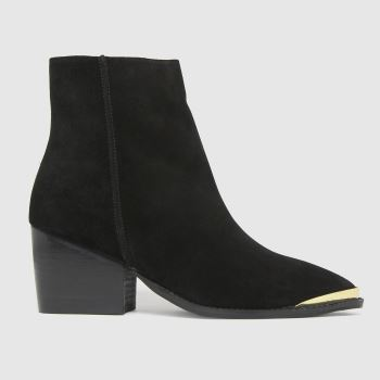 schuh Black Brooklyn Suede Metal Toe Womens Boots