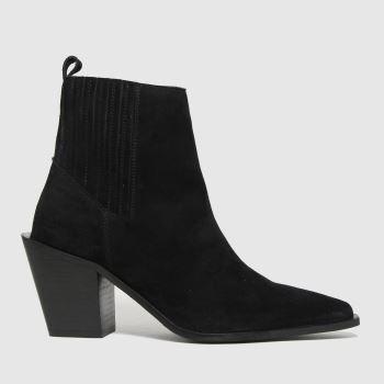 schuh Black Beatrix Suede Western Womens Boots