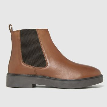 schuh Tan Claudia Leather Chelsea Womens Boots