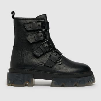 schuh Black The Edit Parsley Leather Boot Womens Boots