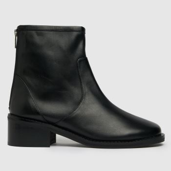 schuh Black The Edit Peony Leather Womens Boots
