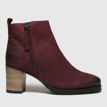 Red Or Dead Burgundy Ramp Nubuck Leather Womens Boots