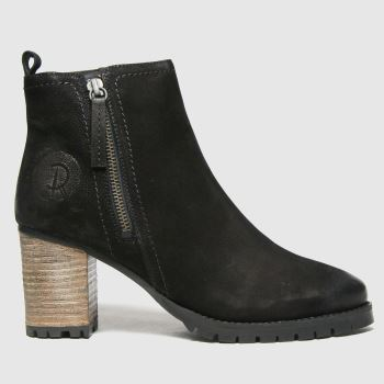 Red Or Dead Black Ramp Nubuck Leather Womens Boots