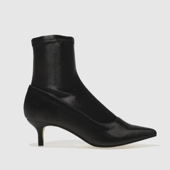 SCHUH BLACK STRIKE A POSE BOOTS
