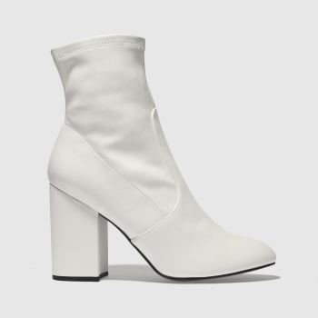 Schuh White SOLO Boots