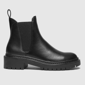 schuh Black Adam Chunky Chelsea Womens Boots