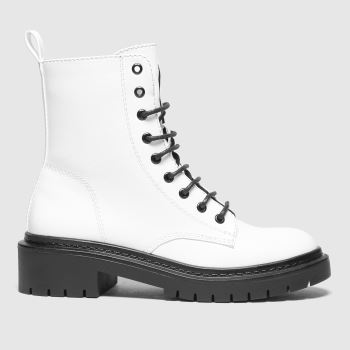schuh White Andy Lace Up Womens Boots