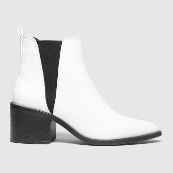 schuh White Charlotte Point Chelsea Womens Boots