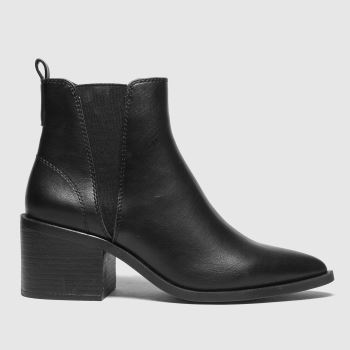 schuh Black Charlotte Point Chelsea Womens Boots
