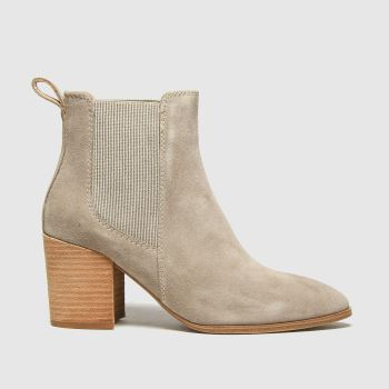 schuh Natural Callie Suede Chelsea Womens Boots#