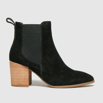 schuh Black Callie Suede Chelsea Womens Boots