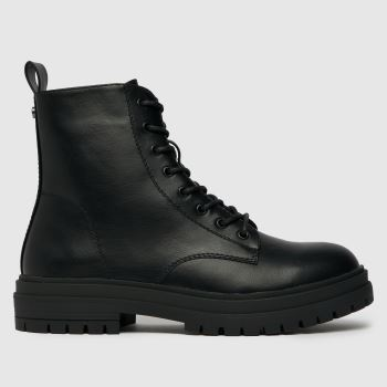 schuh Black Acacia Lace Up Boot Womens Boots