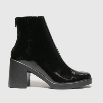 schuh Black Amara Patent Platform Womens Boots#