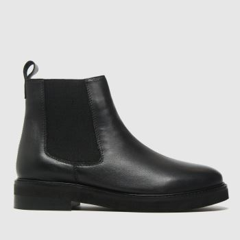 schuh Black Carly Leather Chelsea Womens Boots