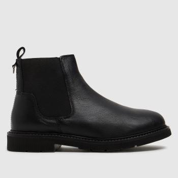 schuh Black Carmella Leather Chelsea Womens Boots