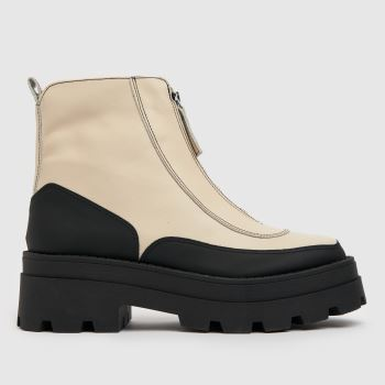 schuh White The Edit Pyper Leather Womens Boots