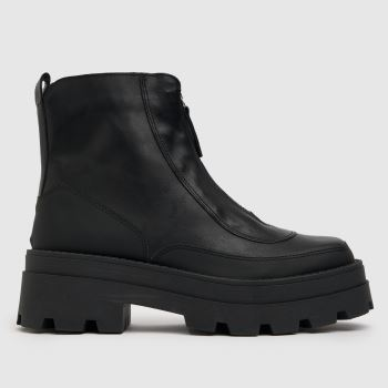 schuh Black The Edit Pyper Leather Boot Womens Boots