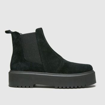 schuh Schwarz Angel Suede Flatform Damen Boots