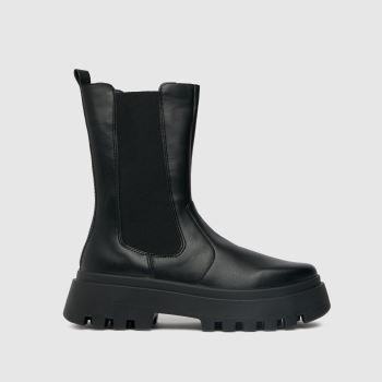 schuh Black Astrid High Cut Chelsea Womens Boots