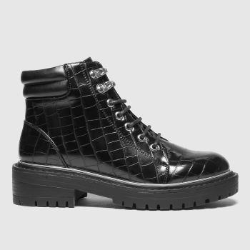 schuh Black Abigail Croc Womens Boots
