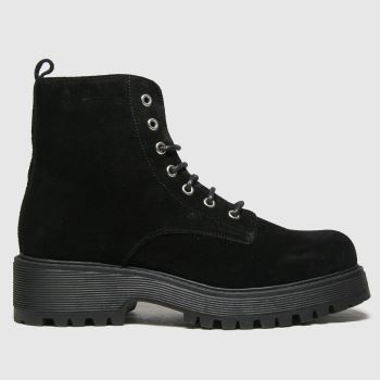 schuh Black Avery Suede Lace Up Womens Boots